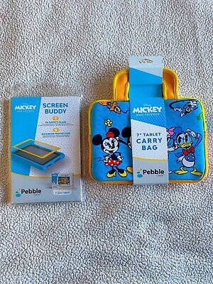 Pebble Gear Kids Tablet Case And Screen Protector Disney Mickey Fits 7inch • 12£