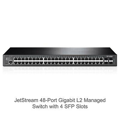 TP Link T2600G-52TS 48port Managed Switch • 35£