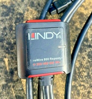 Lindy Repeater FireWire 800 Cable Plus Extra Cable Digital Camera • 4.99£