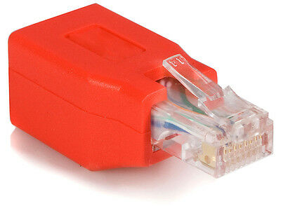 Cat 5e RJ45 Crossover Network Ethernet Cable Red Adapter Gigabit Male To Female • 2.89£