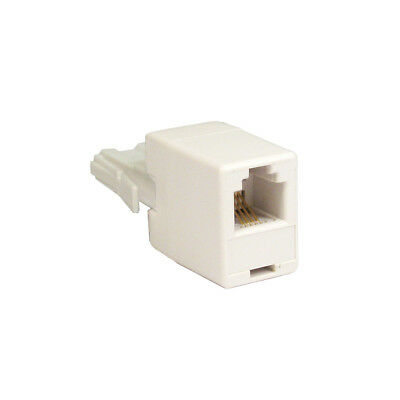 RJ11 To BT Plug Adaptor - Connect ADSL DSL Cable To BT Telephone Phone Socket • 1.59£