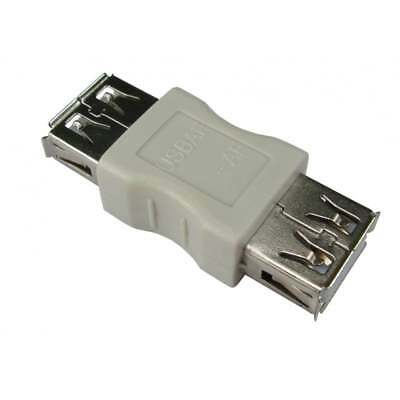 USB Type A Female To A F Coupler Gender Changer Converter Adaptor Joiner - BEIGE • 1.99£