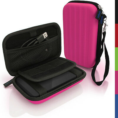 Pink Hard Case Cover Pouch For Portable External Hard Drive 160 X 93.5 X 21.5mm • 8.99£