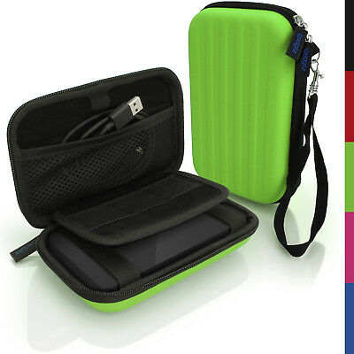 Green Hard Case Cover Pouch For Portable External Hard Drive 160 X 93.5 X 21.5mm • 8.99£