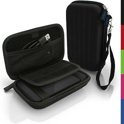 Black Hard Case Cover Pouch For Portable External Hard Drive 160 X 93.5 X 21.5mm • 8.99£