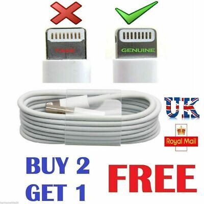 IPhone 6 Fast Apple USB Lighting Cable Charger Lead IPad IPhone 5 7 8 X XS XR • 1.99£