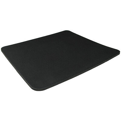 Black Fabric Mouse Mat Pad High Quality 5mm Thick Non Slip Foam 25cm X 22cm • 1.99£