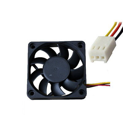 Case 3 Pin 12V Computer Cooling Cooler 60x60x15mm Fan PC Black C - UK SELLER • 5.10£