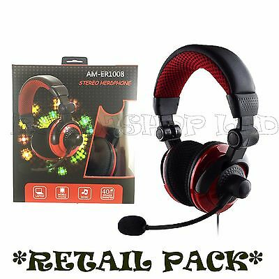 Box Deluxe Headset Headphone With Microphone For Xbox One & S Ps4 Pc Mac Tablets • 15.99£