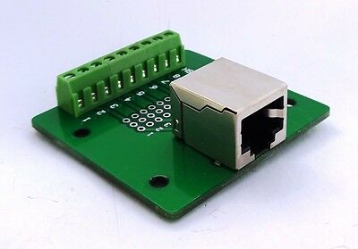RJ-45 Jack Connector Breakout Board Adapter Ethernet 8P8C Single • 11.25£