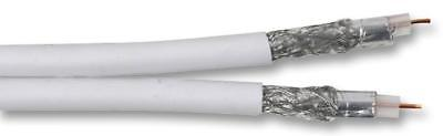 Twin RG6U Coaxial Cable Semi Air Spaced White 250m Reel • 87.89£
