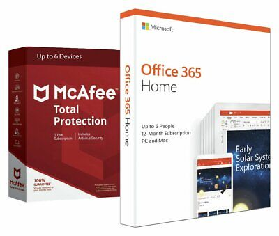 Office 365 (Now Microsoft 365) Home & McAfee 6 Devices • 59.99£