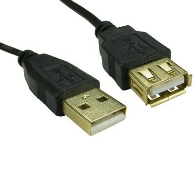 USB Extension Cable A To A Lead Male To Female 1m 2m 3m High Speed Gold Plated • 2.79£