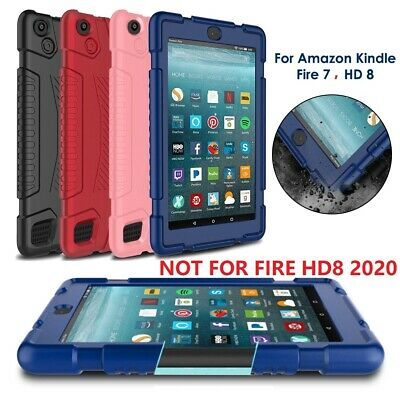 For Amazon Kindle Fire 7, HD8 Kids Safe Shockproof Silicone Tablet Case Cover • 8.93£