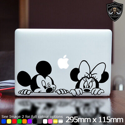 Mickey Minnie Mouse Laptop Sticker Decal Disney Cute Fits Apple Macbook 13 Inch • 2.99£