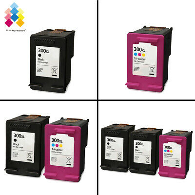 Lot Black & Tri-Colour Ink Cartridges Unbrand Fits For HP 300XL Printers • 18.92£