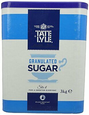Tate And Lyle Fairtrade Granulated Pure Cane Sugar Drum With Handle 3 Kg • 8.40£