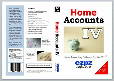 Home Accounts 4, Personal Accounting Software, Ezpz Software • 26.99£