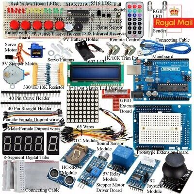 32 Lessons Ultimate Starter Learning Kit For Arduino UNO R3 LCD1602 Motor Servo • 28.42£