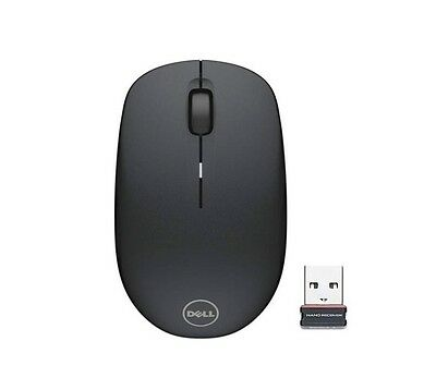 Genuine Original DELL WM126 Wireless Cordless Optical Mouse BLACK 570-AAMH Ref • 14.99£