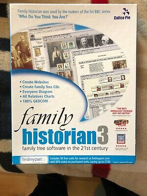 Family Historian 3 And 4 Genealogy Software+Free Book.FREE POST • 20£