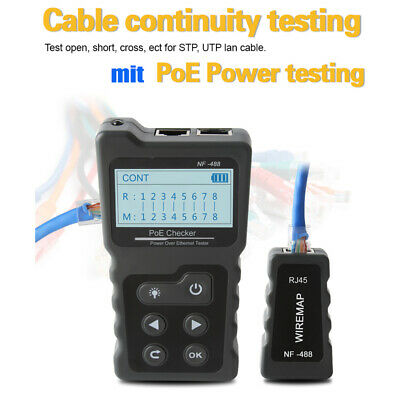 LCD Network Cable Tester PoE Checker Inline PoE Voltage And Current Tester E3U4 • 23.65£