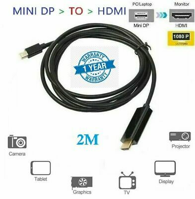 1.8m Mini Dp Display Port To Hdmi ThunderBolt Cable Adapter For MacBook Air Pro  • 5.95£
