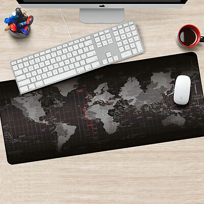 Office World Map Large Cloth Extended Rubber Gaming Mouse Mat**UK FAST POST** • 6.99£