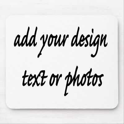 Personalised Custom Mouse Pad Mat Add Your Own Design Text Logo Or Photo • 3.75£