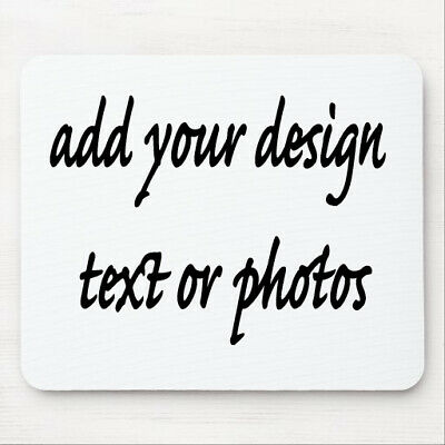 Personalised Custom Mouse Pad Mat Add Your Own Design Text Logo Or Photo • 3.60£