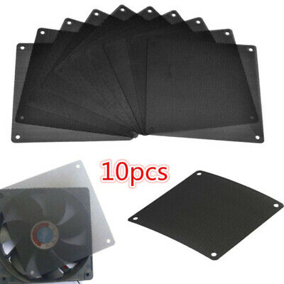 10Pcs 120mm PVC PC Fan Dust Filter Dustproof Case Computer Cooler Cover Me D JE • 5.85£