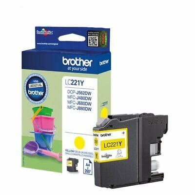 Brother Yellow LC221Y Ink Cartridge - BA74734 • 13.99£