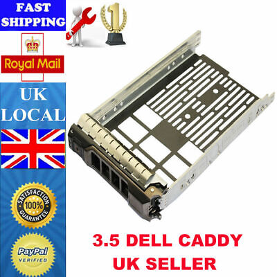 3.5  SAS SATA Hard Drive Tray Caddy Sled For Dell PowerEdge R410 R610 R710 F238F • 6.29£