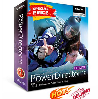 Details About  CyberLink PowerDirector Ultimate 18 🔥 Genuine Life Time License • 3.75£