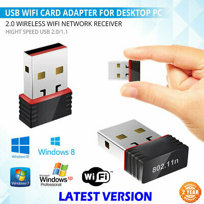 300Mbps Wireless Usb Adapter Wifi Internet Dongle 802.11 B/G/N For Windows7 8 10 • 3.99£