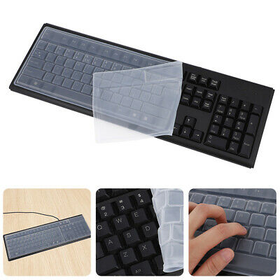 Desktop Universal Silicone Skin Protector Transparent Computer Keyboard Cover • 2£