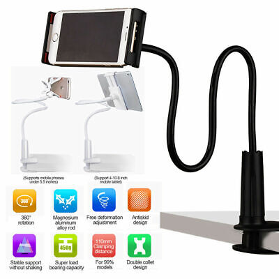 360 Flexible Lazy Bed Tablet Holder Mount With Clamp For IPad Tab Phones Stand • 6.89£