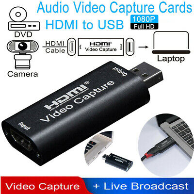 NEW HDMI To USB 2.0 Video Capture Card Adapter 1080P HD Recorder For Mac Window • 8.49£