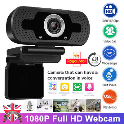 Full HD 1080P Webcam With Microphone MIC USB For PC Desktop Laptop NEW UK Stock • 14.99£