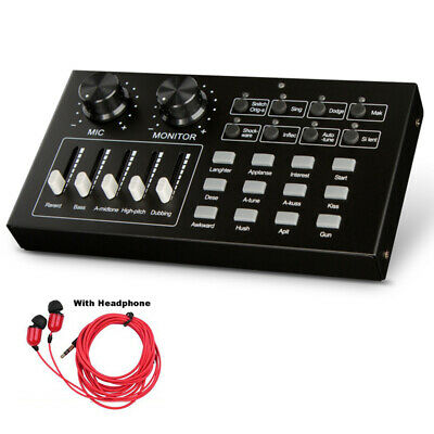 I10 Studio Audio Mixer Streaming Live Sound Card External USB Multifunction UK • 31.30£