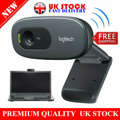 NEW Logitech C270 HD 720p/30fps Webcam With Microphone Widescreen Video Calling • 36.79£