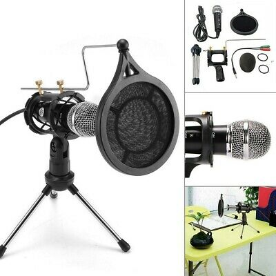 3.5MM AUX Condenser Microphone For Mac & Windows YouTube Skype Gaming Studio UK • 11.99£