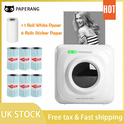 PeriPage Printer Thermal Photo Portable Wireless Mini Pocket With 9 Rolls Paper • 36.99£