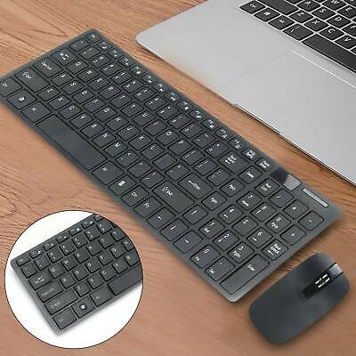 Slim 2.4GHz Cordless Wireless Keyboard And Mouse Set For MAC PC Laptop Tablet UK • 12.09£