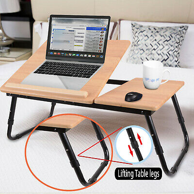 Foldable Laptop Bed Table Stand Sofa Lap Tray Computer Desk Adjustable Portable • 19.59£