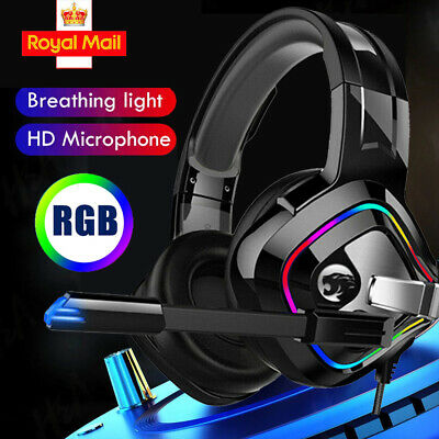 3.5mm Gaming Headset Headphone For PC Mac Nintendo Switch Laptop PS4 Xbox One UK • 20.98£