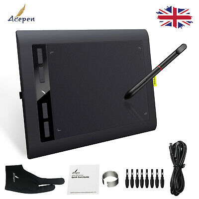 Acepen AP1060 Digital Board Graphics Tablet Drawing Pad 10*6 Inch With Stylus • 30.49£