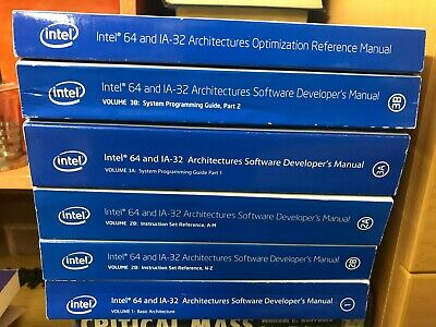 Intel 64 And IA-32 Architectures Software Developer's Manuals . Complete Set • 34.50£
