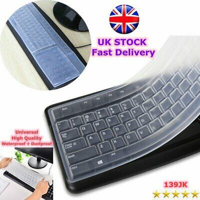 Universal Silicone Desktop Computer Keyboard Cover Skin Protector Film Cover JE • 3.61£