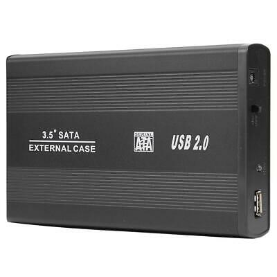 3.5 Inch USB 2.0 To SATA Port SSD Hard Drive Enclosure 480Mbps HDD Case • 12.50£
